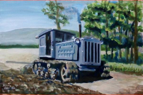 Картина Трактор ДТ 54